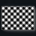 "Modern Black and White Check Gingham Pattern Envelope<br><div class=""desc"">Modern Black and White Check Gingham Pattern</div>"