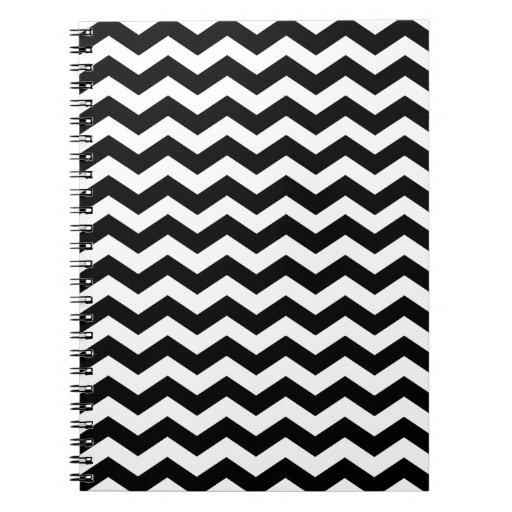 Modern Black and White Chevron Notebook