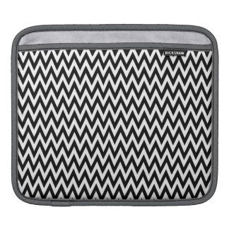 Modern Black and White Chevron Stripes Sleeves For iPads