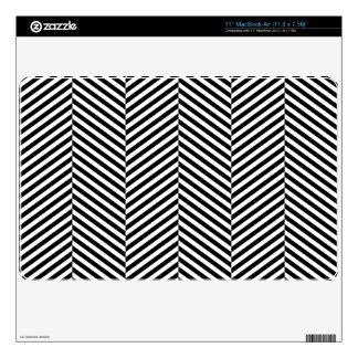 Modern Black And White Chevron Stripes Pattern Skin For MacBook Air