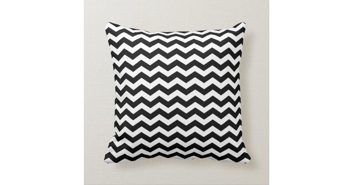 Modern Black and White Chevron Throw Pillow Zazzle