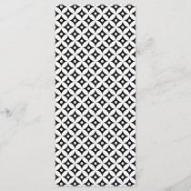 Modern Black and White Circle Polka Dots Pattern