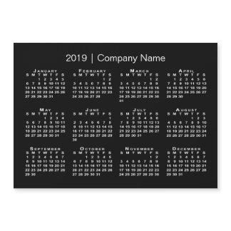Modern Black and White Company Name 2019 Calendar