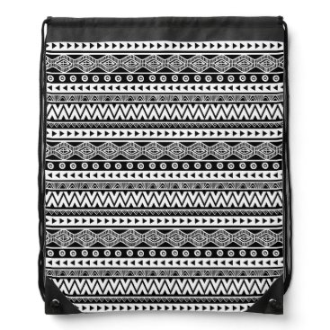 Aztec Themed Modern Black and White Cool Aztec Tribal Backpack