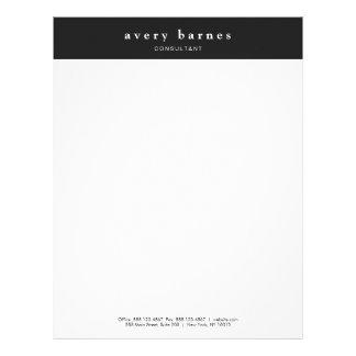 Modern Black and White Creative Professional Letterhead