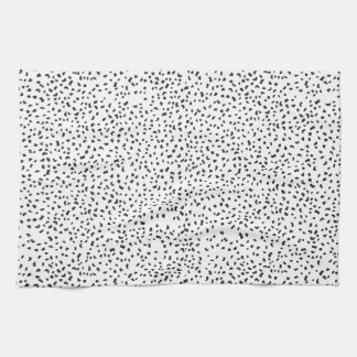 Modern Black and White Dalmatian Spots Hand Towels