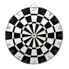 Modern Black And White Dartboard