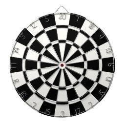 Modern Black And White Dartboard