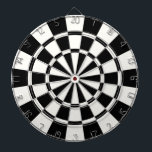 "Modern Black And White Dartboard<br><div class=""desc"">Modern Black And White Dart Board</div>"