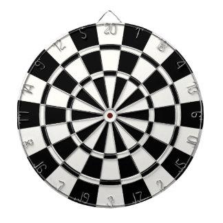 Modern Black And White Dartboard With Darts