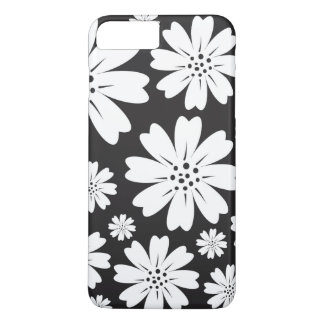 Modern Black And White Ditsy Floral Pattern iPhone 8 Plus/7 Plus Case