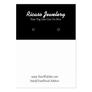 Modern Black and White Earring Background Large Business Card