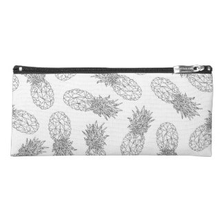 Modern Black and White Geometric Pineapples Pencil Case
