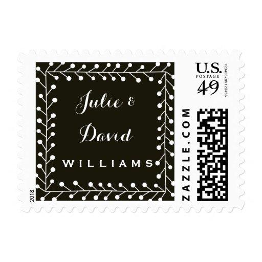 modern black and white graphic design postage zazzle