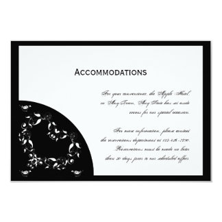 Modern Black and White Heart Accomodations Invitations