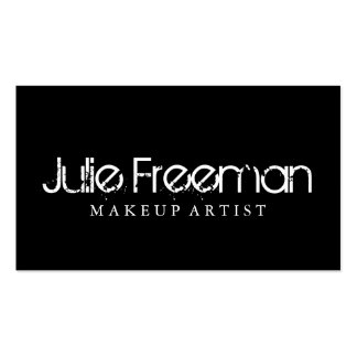 Modern Black and White Makeup Artist Salon Card Double-Sided Standard Business Cards (Pack Of 100)