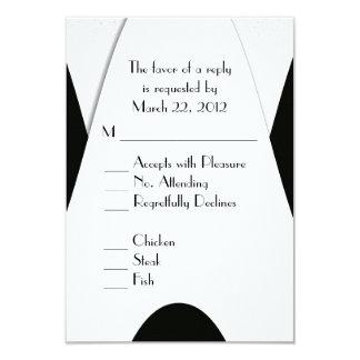 Modern Black and White Menu Choice Card
