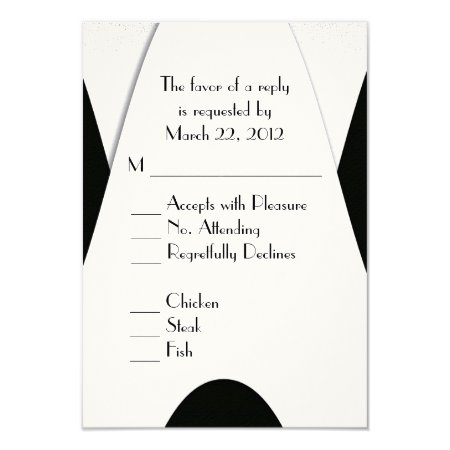 Modern Black and White Menu Choice Announcement Cards