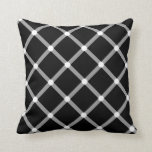 Modern black and white optical illusion pattern throw pillow