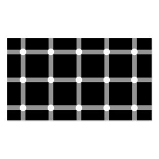 Modern Black and White Optical Pattern Double-Sided Standard Business Cards (Pack Of 100)