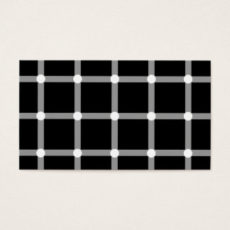 Modern Black and White Optical Pattern Business Card
