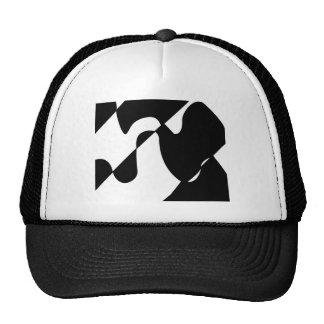 Modern Black and White Pattern Mesh Hats