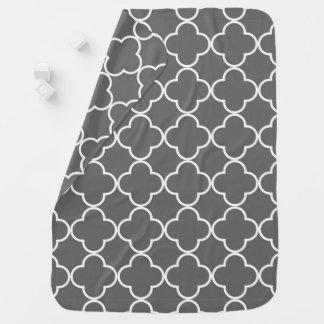Modern Black and White Pattern Nursery Decor Stroller Blanket