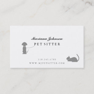 Pet sitter business cards templates zazzle modern black and white pet sitter business card colourmoves