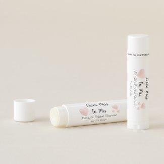 Modern Black and White Pink Hearts Bridal Shower Lip Balm