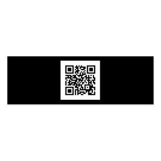 Modern Black and White QR Code Mini Business Card