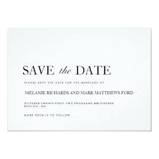 Modern Black and White Save The Date Announcements