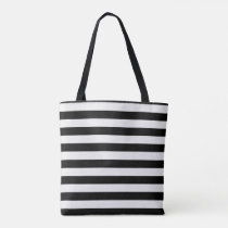 Modern Black and White Stripe Tote Bag