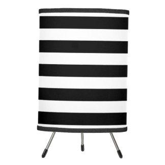 Black And White Stripes Table & Pendant Lamps | Zazzle