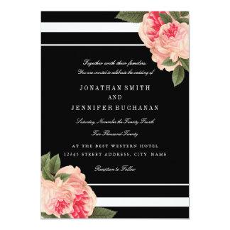 Modern Black and White Striped Wedding Invites