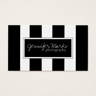 MODERN BLACK AND WHITE STRIPES | BUSINESS CARDS