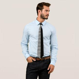 Modern black and white stripes elegant tie