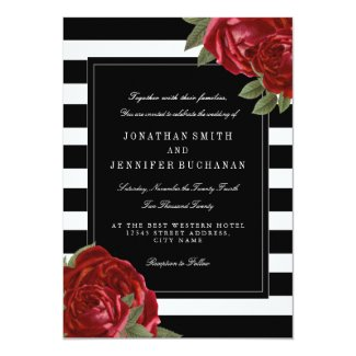 Modern Black and White Stripes Wedding Suite