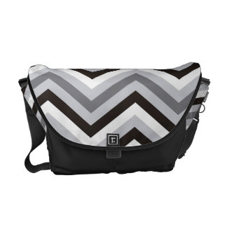 Modern black and white Zigzag Pattern Courier Bag