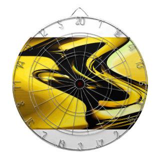 Modern black and yellow pop art pattern design dart board