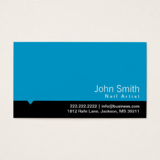 Modern Black Bar Nail Art Business Card