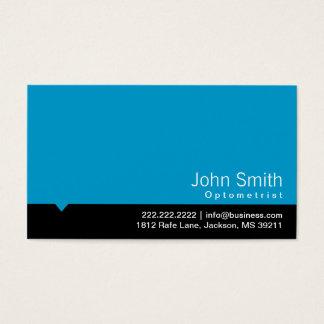 Modern Black Bar Optometrist Business Card