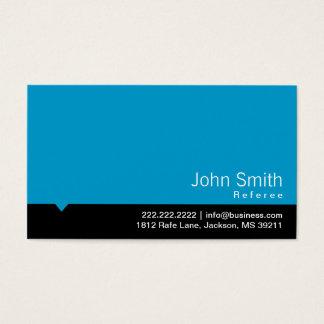 Modern Black Bar Referee Business Card