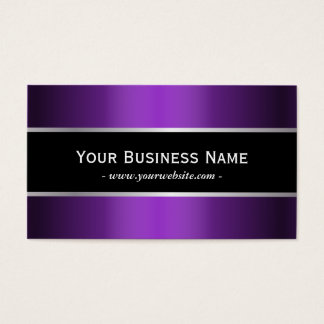 Modern Black Belt Metallic Purple Elegant Business Card