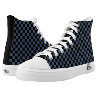 checkered pattern canvas shoes printed shoes zazzle