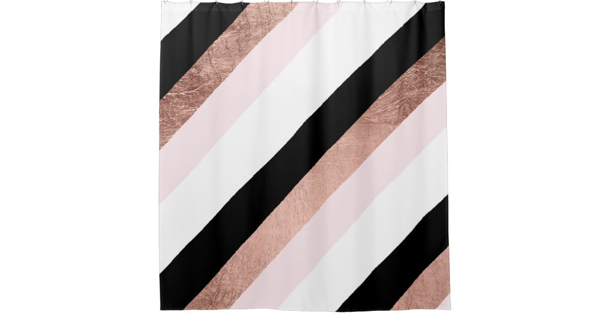 orange and black shower curtain. Modern black blush pink rose gold geometric stripe shower curtain Geometric Shower Curtains  Zazzle