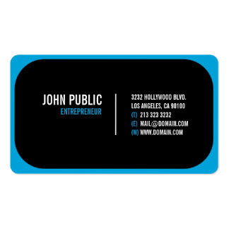 Modern Black Business Card with Rounded Corners