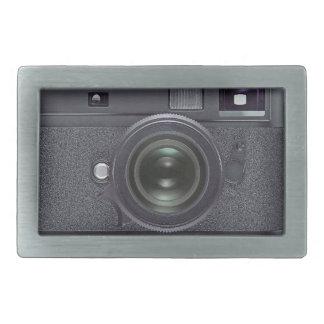 Modern black camera belt buckle