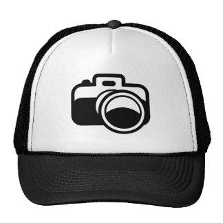 Modern Black Camera Icon Photographer Mesh Hat