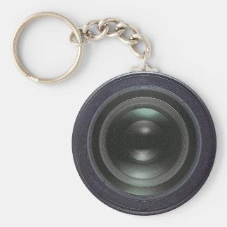 Modern black camera keychain