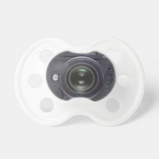 Modern black camera pacifier